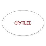 Gratitude Sticker (Oval)