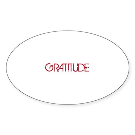 Gratitude Sticker (Oval 10 pk)