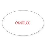 Gratitude Sticker (Oval 10 pk)
