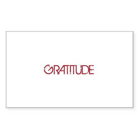 Gratitude Sticker (Rectangle 10 pk)