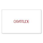 Gratitude Sticker (Rectangle 10 pk)