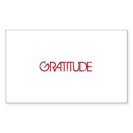 Gratitude Sticker (Rectangle 50 pk)