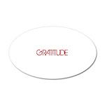 Gratitude 22x14 Oval Wall Peel
