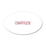 Gratitude 38.5 x 24.5 Oval Wall Peel