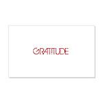 Gratitude 22x14 Wall Peel