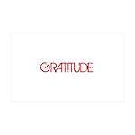 Gratitude 38.5 x 24.5 Wall Peel