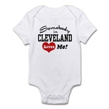 Somebody in Cleveland Loves Me Infant Bodysuit