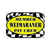Weimaraner PIT CREW Rectangle Magnet