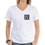 Pink Day in LA Women's V-Neck T-Shirt