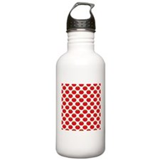 Red Tomato Pattern Water Bottle