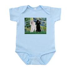 Bridge & Poodle Pair Infant Bodysuit