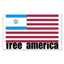Free America Rectangle Decal