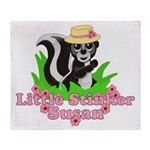 Little Stinker Susan Throw Blanket