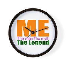 Me, the myth, the man Wall Clock