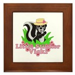Little Stinker Vicki Framed Tile