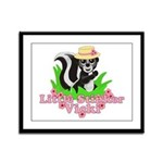 Little Stinker Vicki Framed Panel Print