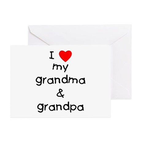 I love my grandma & grandpa Greeting Cards (Packag