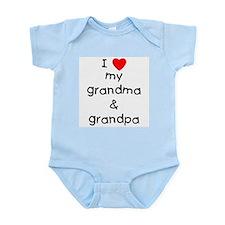 I love my grandma & grandpa Infant Bodysuit