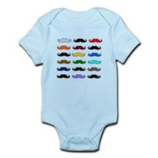 COLORFUL MOUSTACHE Infant Bodysuit