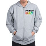 I'm not gay but my boyfriend is Zip Hoodie