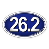 26.2 BLUE Marathon Decal