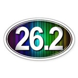26.2 RAINBOW Marathon Decal