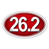 26.2 RED Marathon Decal