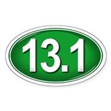13.1 GREEN Marathon Decal