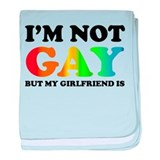 I'm not gay but my girlfriend is baby blanket