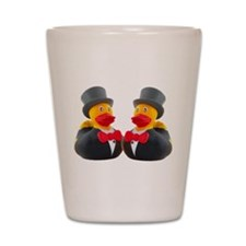 DUCK GROOMS Shot Glass