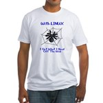 Linux On The Web Fitted T-Shirt