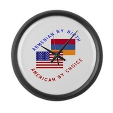Armenia Birth USA Choice Large Wall Clock