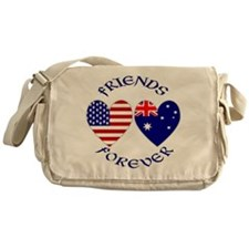 Australia USA Friends Messenger Bag