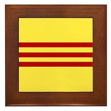 Cute Vietnamese national flag Framed Tile
