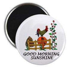 Good Morning Sunshine Rooster Magnet