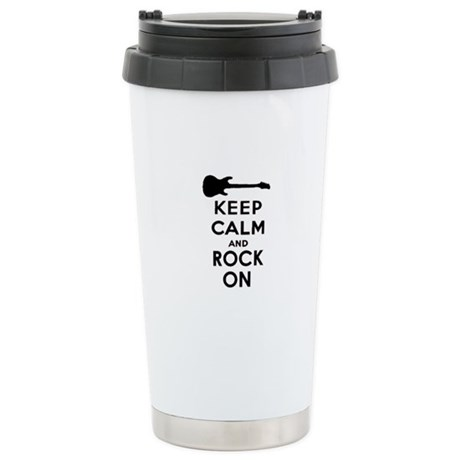 KEEP CALM AND ROCK ON Ceramic Travel Mug