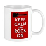 KEEP CALM AND ROCK ON Small Mug