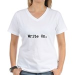 Write On Women's V-Neck T-Shirt