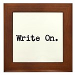 Write On Framed Tile