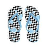 Baby Blue Diamond Houndstooth Flip Flops