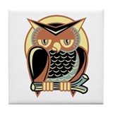 Retro Owl Tile Coaster