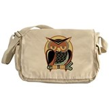 Retro Owl Messenger Bag