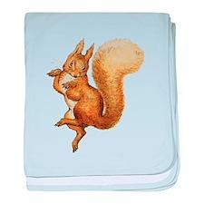 Squirrel Nutkin baby blanket