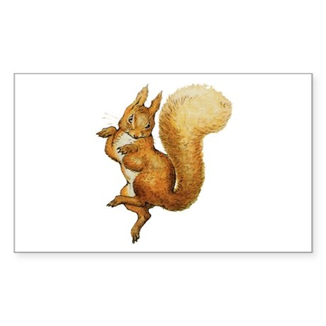 Squirrel Nutkin Sticker (Rectangle)