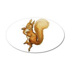 Squirrel Nutkin 35x21 Oval Wall Decal
