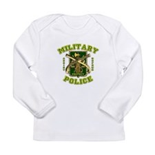 US Army Military Police Gold Long Sleeve Infant T-