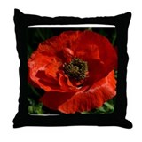 P Poppy Throw Pillow