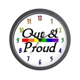 """Out & Proud"" Wall Clock"