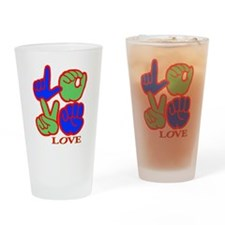 Square F.S. LOVE Drinking Glass