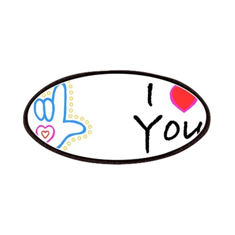 Blue Bold I-Love-You Patches